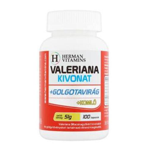 Valeriana kivonat +golgotavirág +komló (100 kapszula)